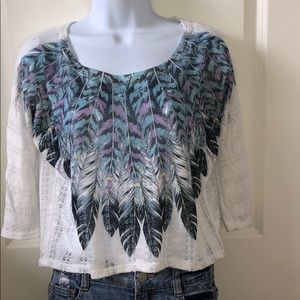 White Feather Top